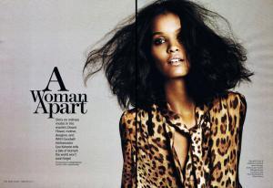 Marie Claire US February 2011: Liya Kebede